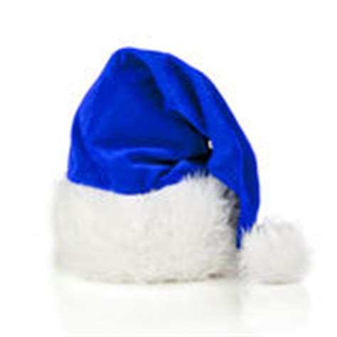 blue santa s hat stock photo image of festive winter