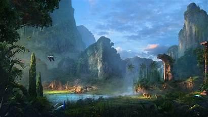 Paradise Landscape Wallpapers Nature 4k Fantasy Scenery