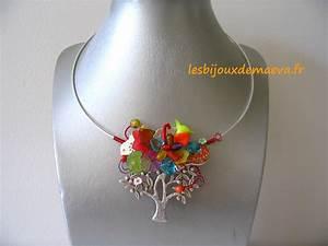 Bijoux fantaisie createur collier multicolore quotecoloquot for Bijou fantaisie createur