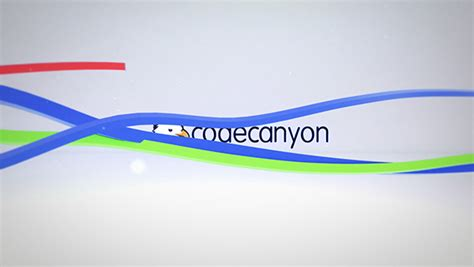 colorful ribbon logo reveal abstract cengizgoren com