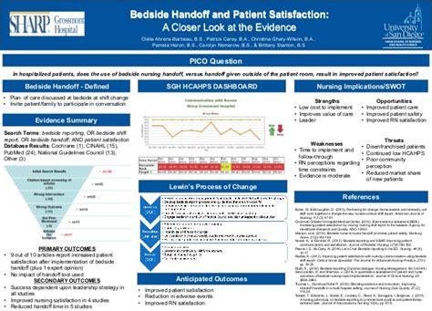 ebp bedside handoff  patient satisfaction