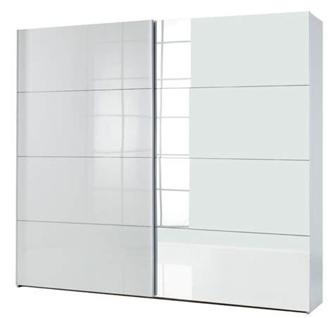 hauteur meuble cuisine armoire 2 portes coulissantes attimi blanc miroir