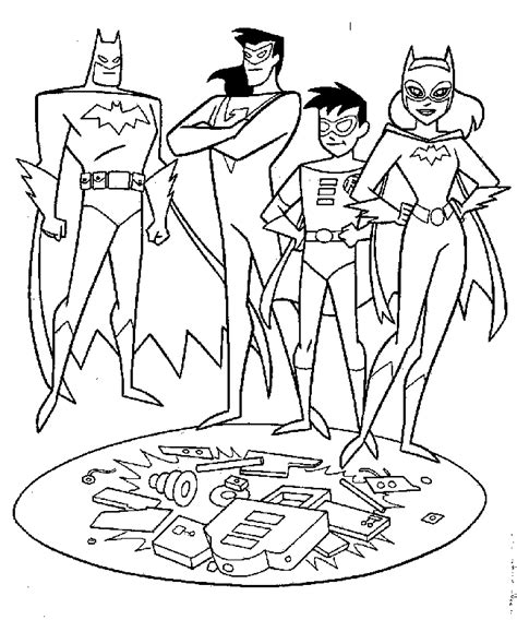 cartoons coloring pages batman  robin coloring pages