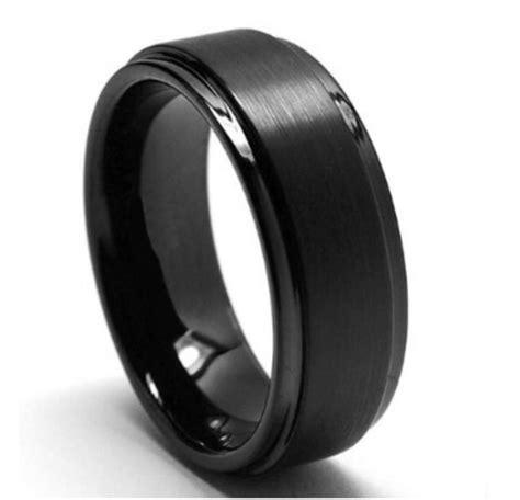 tungsten wedding band black tungsten rings matte