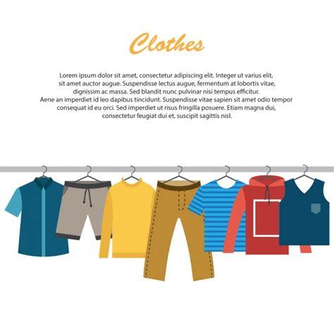 clothes background design vector