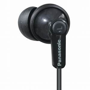 Panasonic In Ear Headphones Black Wired Ergofit Comfort Earbuds Rp
