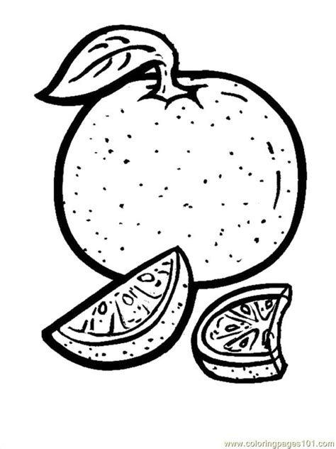 Coloring Oranges by Orange Coloring Page Free Oranges Coloring Pages