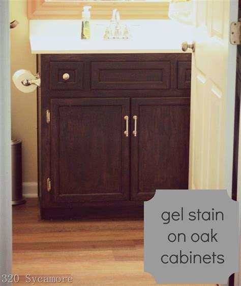Gel Staining Cabinets Darker by Gel Stain On Oak Cabinets Re Staining Cabinets