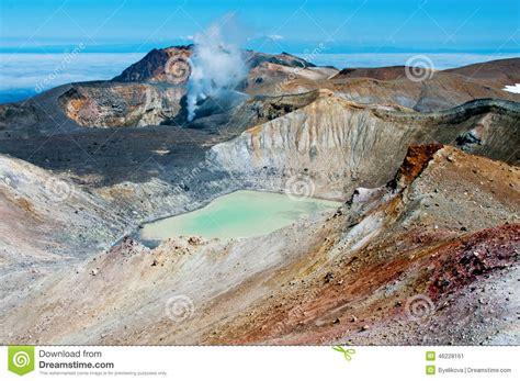 Ebeko Volcano, Paramushir Island, Russia Stock Photo ...