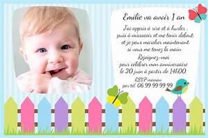1 An Anniversaire : carton invitation anniversaire 1 an thumbshot ~ Farleysfitness.com Idées de Décoration