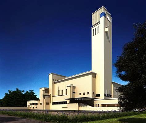 modern church tall building cgtrader