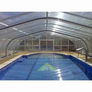 Cubierta para piscinas Telescópica Medidas 13,05 m de largo x 7,50 m de ancho ¡GRANDES