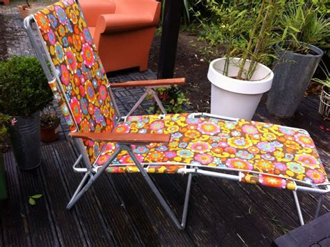 Recliner Chairs Garden by Vintage Retro Sun Lounger Deckchair Garden Recliner Chair