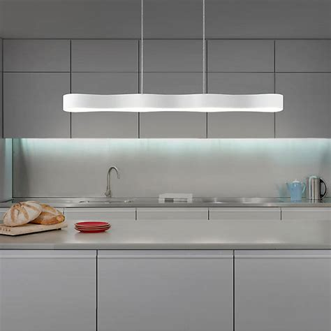 led linear suspension lighting for kitchen island lighting