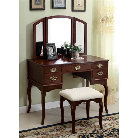 vanity table and stool darby home co falconer 3 piece vanity and stool set