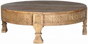 carved round coffee table interiors online With carved wood round coffee table