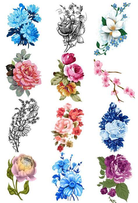 Vintage Floral Temporary Tattoo Set Tatt
