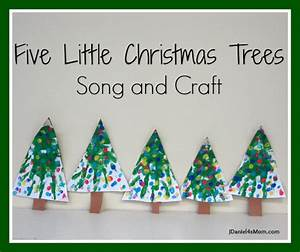Five Little Christmas Trees} Craft and Song JDaniel4s Mom