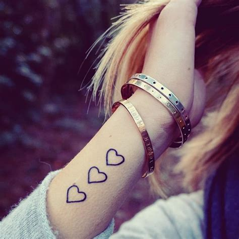 heart tattoo  friendship wrist tattoo  tattoochiefcom