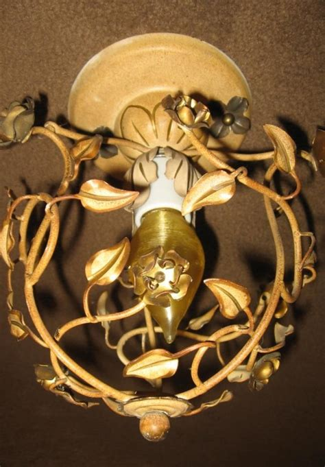 vintage tuscany style ceiling light fixture from