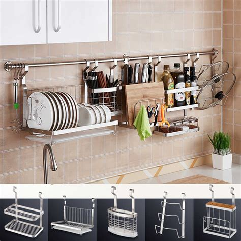 diy stainless steel kitchen storage rack dish rack cutting boards stand  stainless steel wall