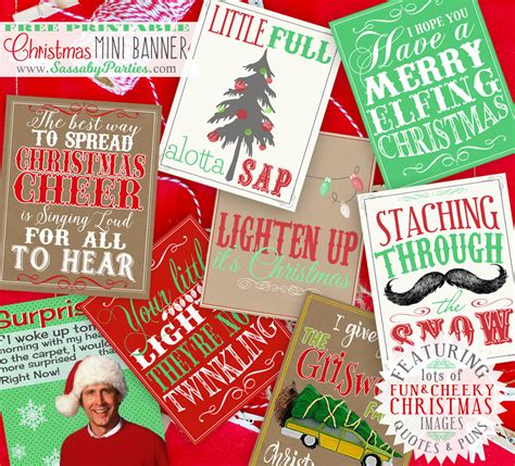 christmas  printable quotes puns mini banner