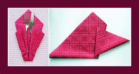 Servietten Als Tasche Falten by Servietten Falten Bestecktasche Deko Ideen