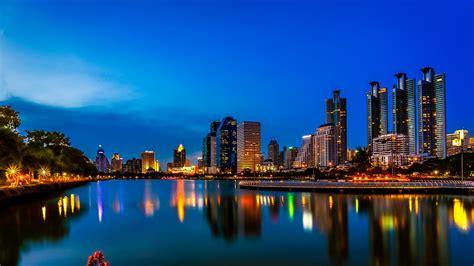 wallpaper bangkok nightscape thailand  world