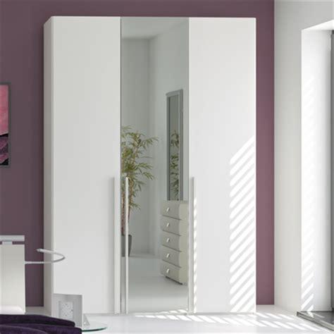 White Wardrobe With Mirror by Loft Three Door Wardrobe White Glass With Mirror Dwell