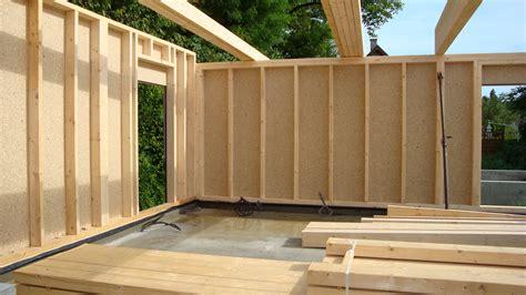 la maison a ossature bois partie 2 construire abri en bois