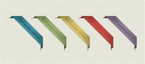 Corner Ribbons, Vector Graphics