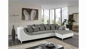 Kleiderschrank Grau Weiß : ecksofa montego sofa ottomane wei grau mit 6 r ckenkissen ~ Markanthonyermac.com Haus und Dekorationen