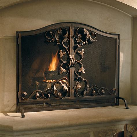 toscana fireplace screen oversized contemporary