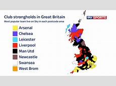 Top 8 mostwatched English Premier League team in your