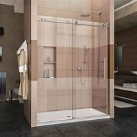 frameless shower door DreamLine Enigma-X 56 in. to 60 in. x 76 in. Frameless ...