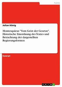 Montesquieus  U0026quot Vom Geist Der Gesetze U0026quot   Historische