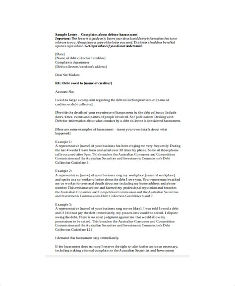 Sexual Harassment Letter Template by Sexual Harassment Letter Of Complaint Hashdoc Sle Of