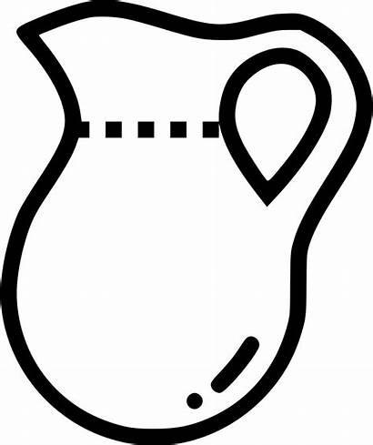 Pitcher Water Jar Clipart Jug Icon Clip