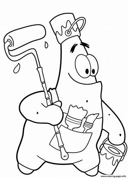 Coloring Pages Patrick Starfish Funny Spongebob Star