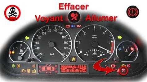 effacer un voyant airbag bmw