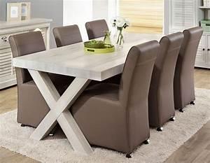 Table à Manger Contemporaine : table a manger contemporaine blanc vieilli lanette 2 zd1 1 ~ Teatrodelosmanantiales.com Idées de Décoration