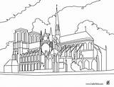 Dame Notre Coloring Cathedral Paris Pages France Coloriage Printable Around Hellokids Hunchback sketch template