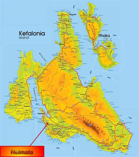stadtplan von kefalonia detaillierte gedruckte karten