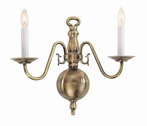 Livex light wall sconce lighting fixture williamsburg