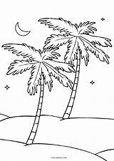 Coloring Tree Pages Coconut Cool2bkids Printable sketch template