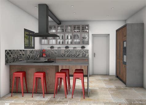 la cuisine de bistrot cuisine style bistrot chic er décoration côté maison