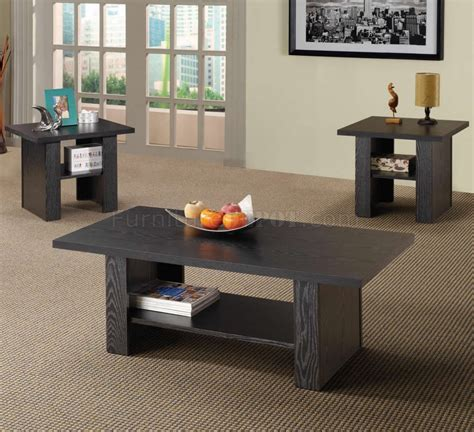 Our modern coffee tables are easy to move to keep in mind that people need to move it more often than any other furniture in their living room. Rich Black Wood Finish Modern 3Pc Coffee Table Set