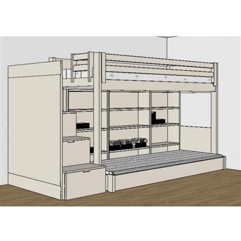 lit mezzanine avec bureau pour ado chambre ado avec lit mezzanine valdiz