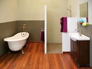 pose de parquet dans une salle de bain est ce une bonne With peut on mettre du parquet dans une salle de bain