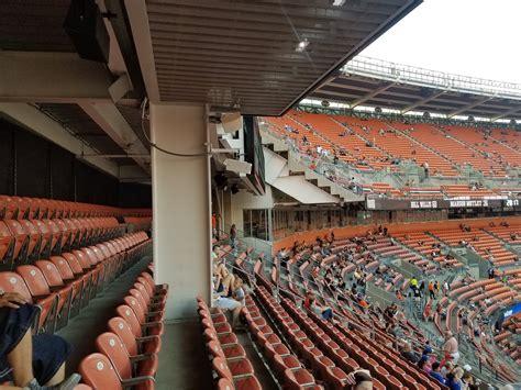 stadium seating energy browns cleveland section endzone mezzanine rateyourseats football level